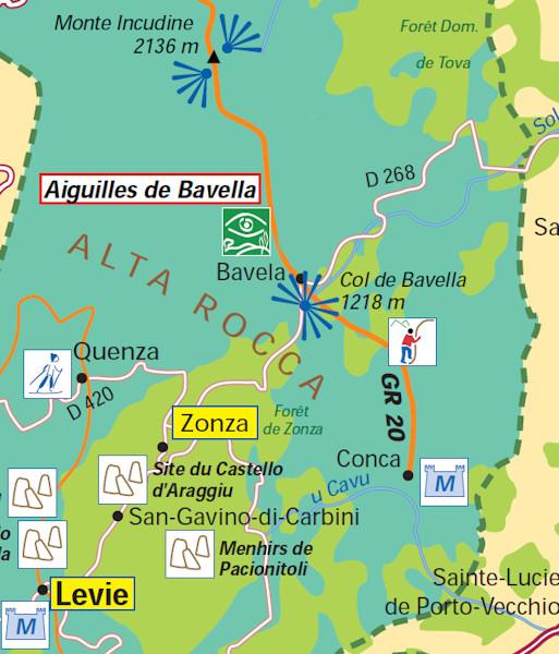 Carte Corse Bavella.Les Aiguilles De Bavella