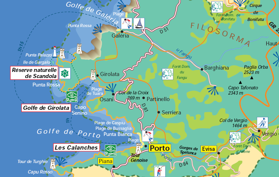 Carte Corse Calanque De Piana.Calanches De Piana